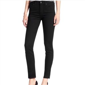NWOT Banana Republic high rise black skinny jeans